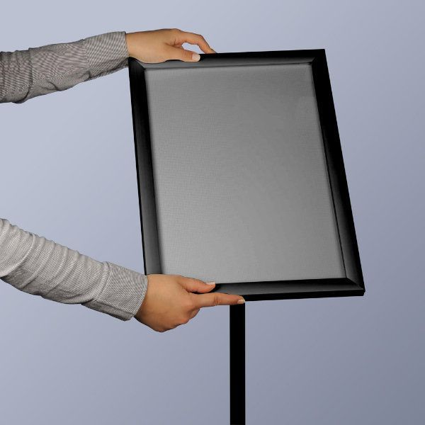 "11"" x 17"" Flexible LED Light Box Floor Sign & Menu Stand Black"