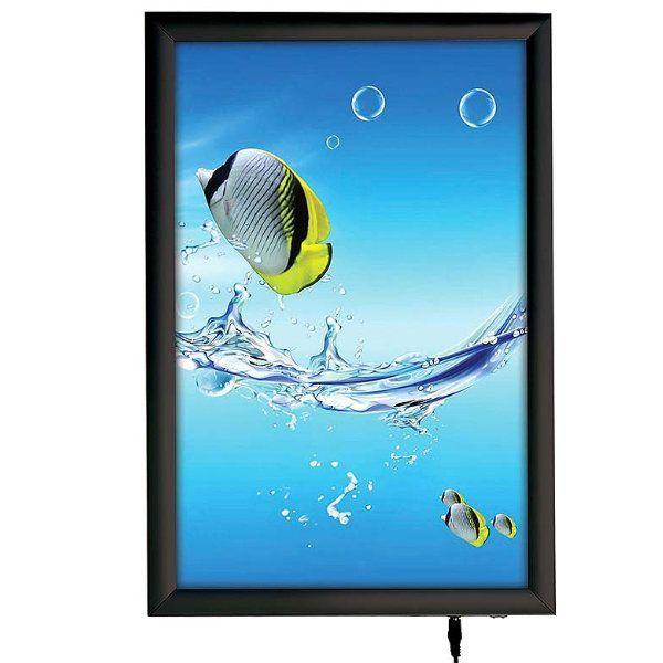 """11""""w x 17""""h Smart Poster LED Light Box 1"""" Black Aluminium Profile"""