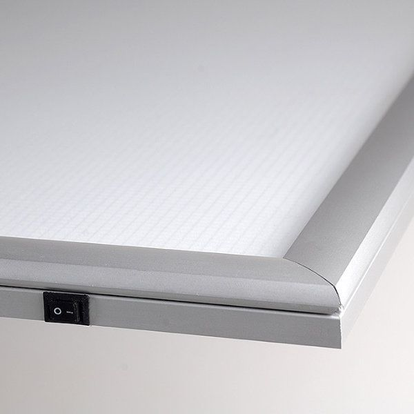 "11""w x 17""h Smart Poster LED Light Box 1"" Silver Aluminium Profile"