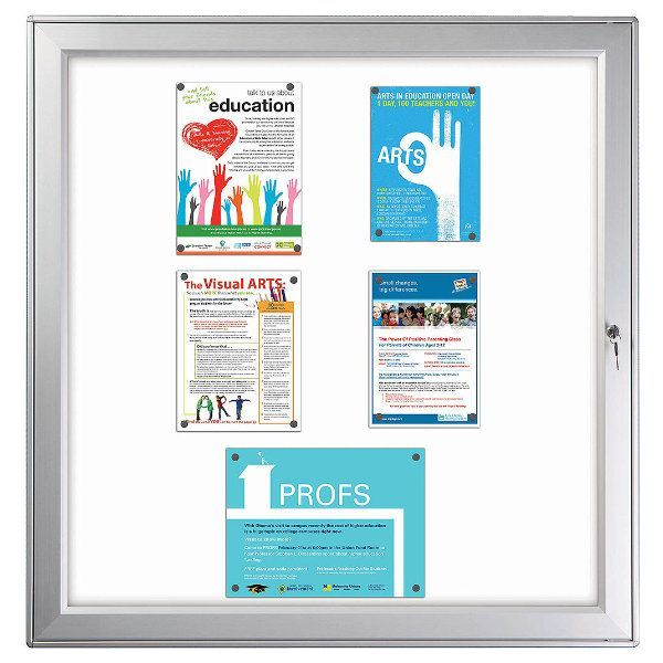 """12x(8.5""""w x 11h"""") Premium Magnetic Bulletin Board Outdoor Use"""