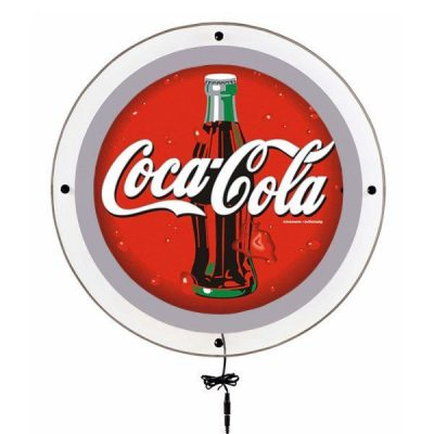 """17.72"""" Acryled Circle Poster LED Sign for Wall Mounting Silver"""