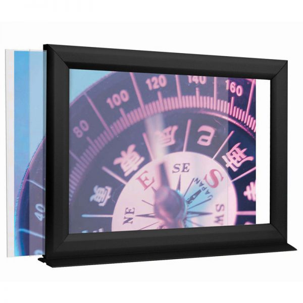 17w11h-Counter-Slide-In-Frame-1-inch-Black-Mitred-Profile