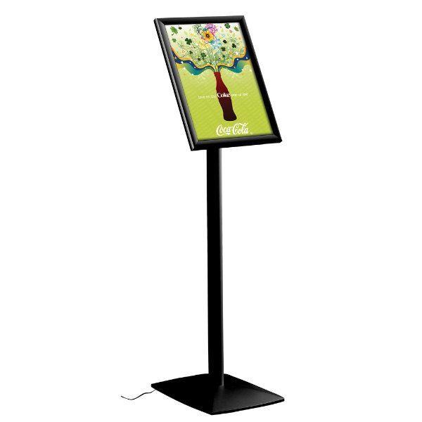"18"" x 24"" Flexible LED Light Box Floor Sign & Menu Stand Black"