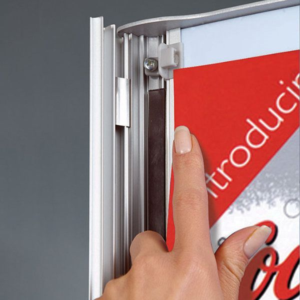 """18""""w x 24""""h Convex Box Poster Display Stand Without Lighting"""