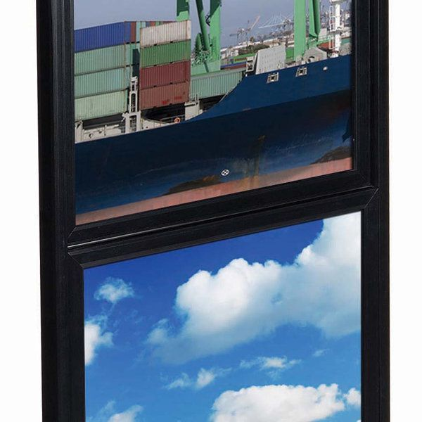 """18""""w x 24""""h Eco Poster Display Stand Black 2 Tiers Double Sided"""