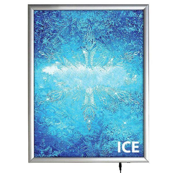 "18""w x 24""h Smart Poster LED Light Box 1"" Silver Aluminium Profile"