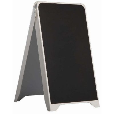 19.50x34.5 Plastic A Frame Board PS White Body Black Chalkboard