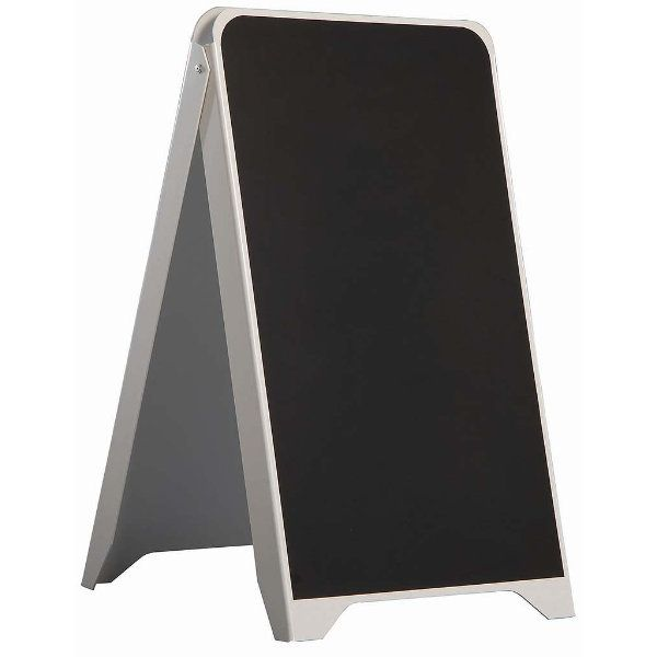 19.50x34.5 Plastic A Frame Board PS White Body Black Chalkboard
