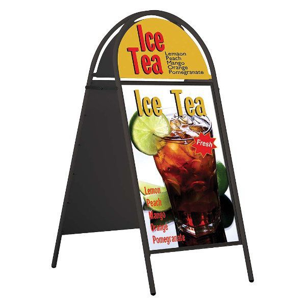 20x30 A Frame Board Magnetic Black Iron With Magnetic Cover
