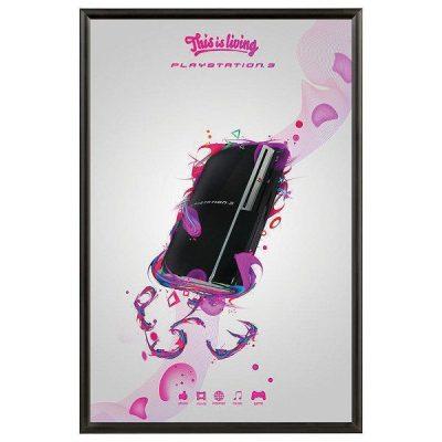 20x30 Snap Poster Frame - 1 inch Black Profile, Mitred Corner