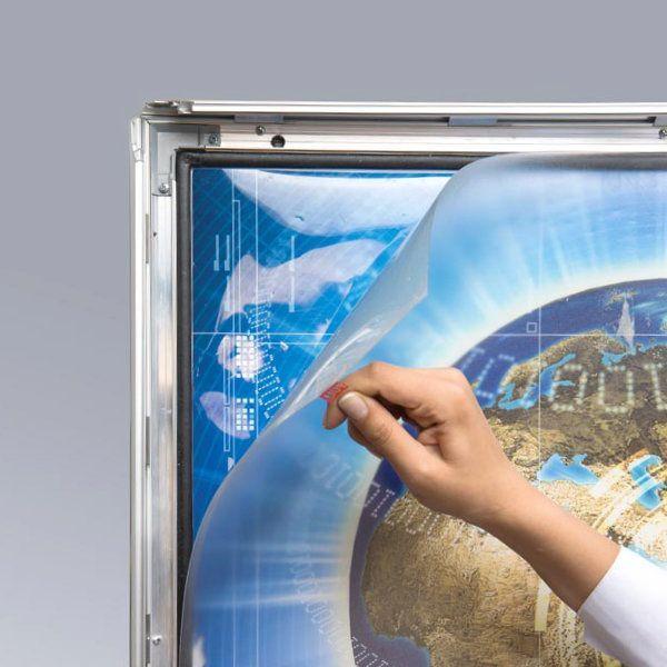 "22"" x 28"" Lockable Weatherproof Smart LED Light Box 1.38"" Profile"
