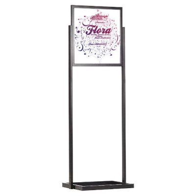 "22""w x 28""h Eco Poster Display Stand Black 1 Tier Double Sided"