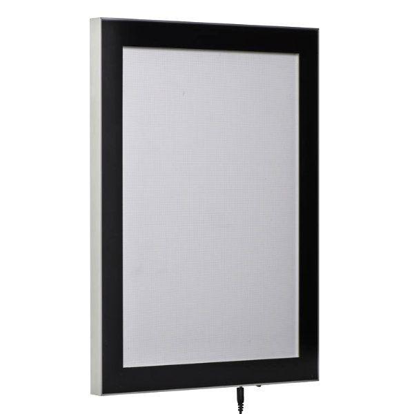 "22""w x 28""h Magnetic Poster LED Light Box Black"