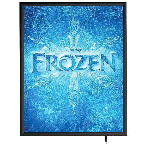 """22""""w x 28""""h Smart Poster LED Light Box 1"""" Black Aluminium Profile"""