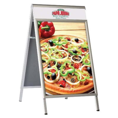 22x28 A Frame Board Premium Silver Changeable Header