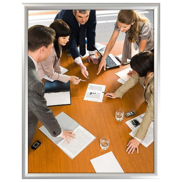 22x28 Snap Poster Frame - 1 inch Silver Profile, Mitred Corner