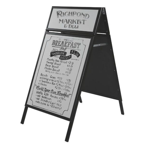 22x28 Write On A Frame Board Black Frame White Surface With Header