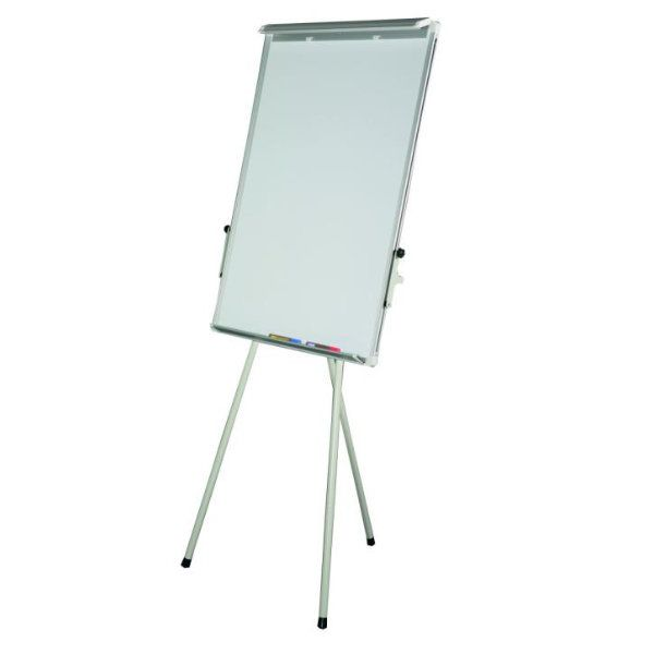 "23"" x 35"" Adjustable Flipchart with Magnetic Surface - Silver"