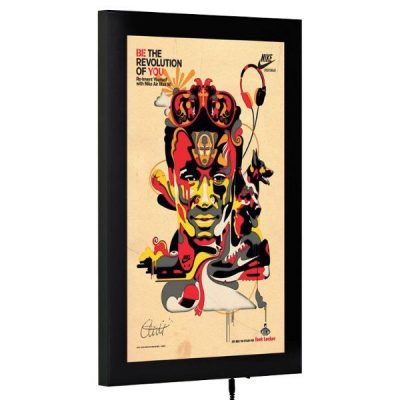 "24""w x 36""h Magnetic Poster LED Light Box Black"