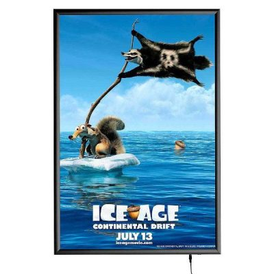 "24""w x 36""h Smart Poster LED Light Box 1"" Black Aluminium Profile"