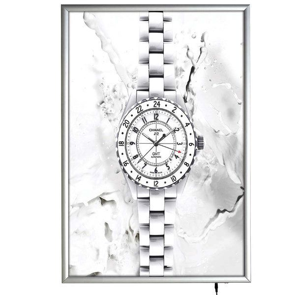 "24""w x 36""h Smart Poster LED Light Box 1"" Silver Aluminium Profile"