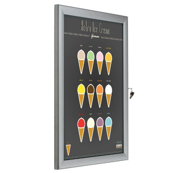 "24""w x 36""h Universal Poster Showboard Single Lock, Outdoor Use"