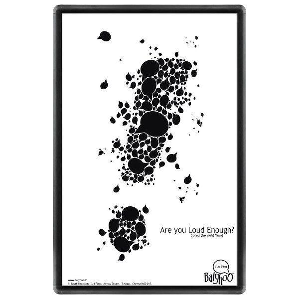 24x36 Snap Poster Frame - 1 inch Black Profile, Round Corner