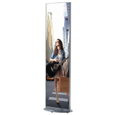 """27""""w x 67""""h Mono Totem Poster Display Stand Without Light"""