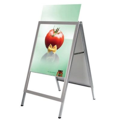 30x40 Slide-in A Frame Board Silver Sidewalk Sign