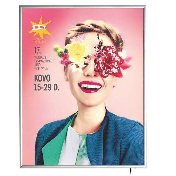 "36""w x 48""h Smart Poster LED Light Box 1.38"" Silver Aluminium Profile"
