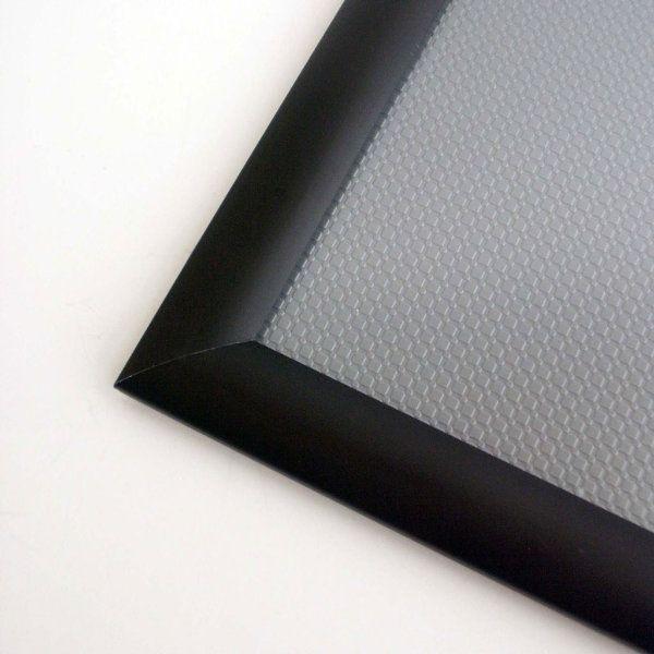 40x60 Snap Poster Frame - 1.25 inch Black Profile, Mitred Corner