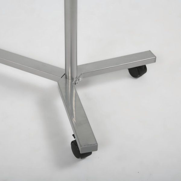 "46"" x 17"" x 68"" Coat Hanger Stand with Wheels, Silver"