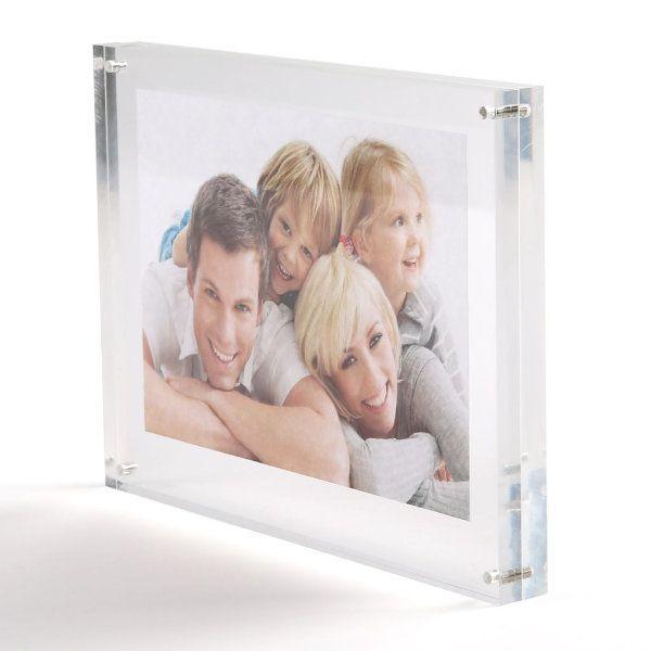 "4""w x 4""h Tabletop Clear Acrylic Sign Frame"