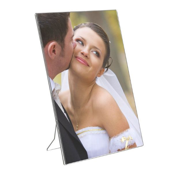 """5""""w x 7""""h Acrylic Picture Frame & Sign Holder"""