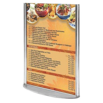 """5""""w x 7""""h Oval Based Clear Acrylic Leaflet & Sign Holder"""