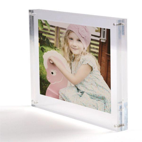 "5""w x 7""h Tabletop Clear Acrylic Sign Frame"