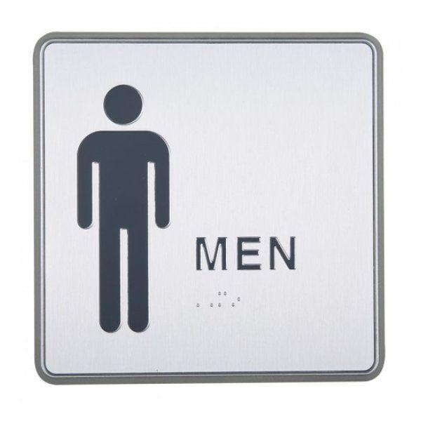 "6"" x 6"" Restroom Sign for Men Aluminum"