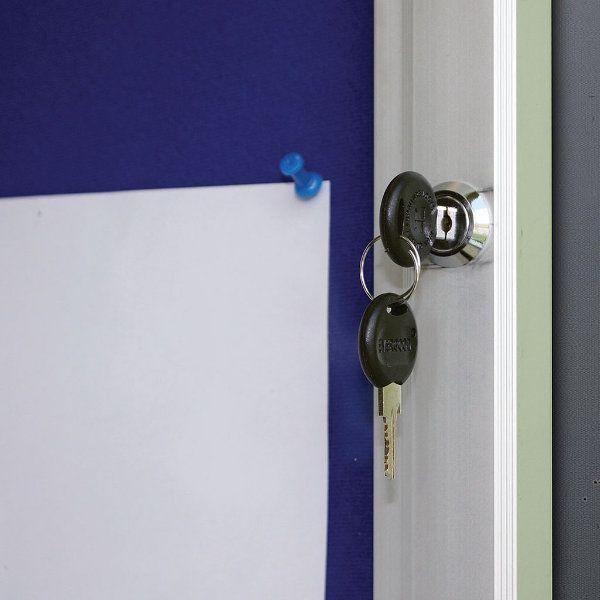 """6x(8.5""""w x 11h"""") Blue Felt Enclosed Bulletin Board Outdoor Use"""