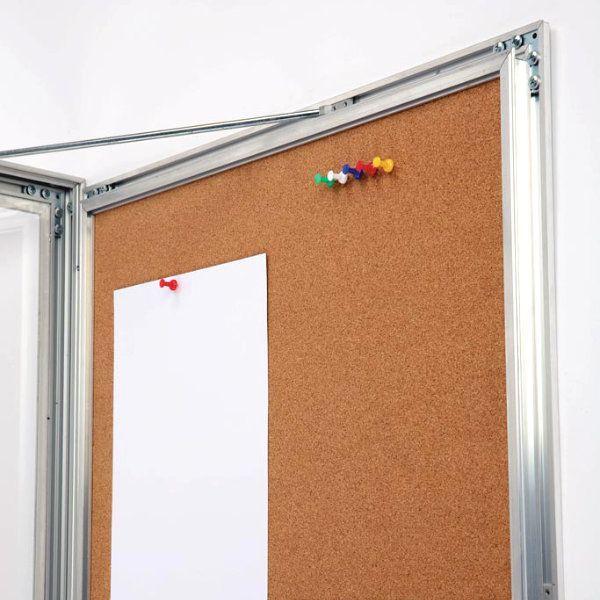 "6x(8.5""w x 11h"") Universal Showboard With Cork Aluminum Frame"