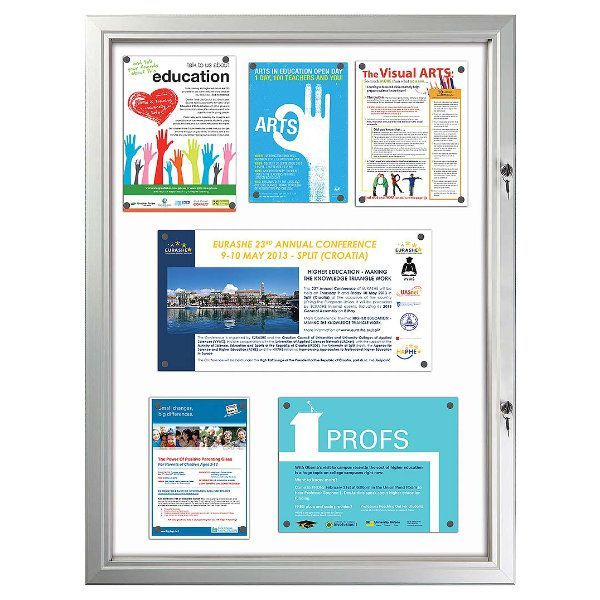"""9x(8.5""""w x 11h"""") Enclosed Magnetic Bulletin Board Outdoor Use"""
