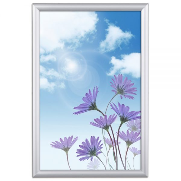 Window Frame 20 X 30 Poster Size 1 Silver Color Profile, Mitered Corner