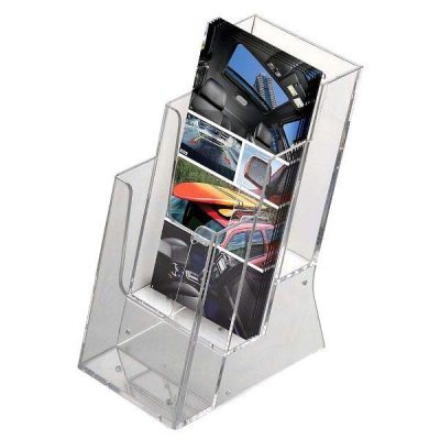 "Brochure - Leaflet Holder 4""w x 6""h 3 Pockets"