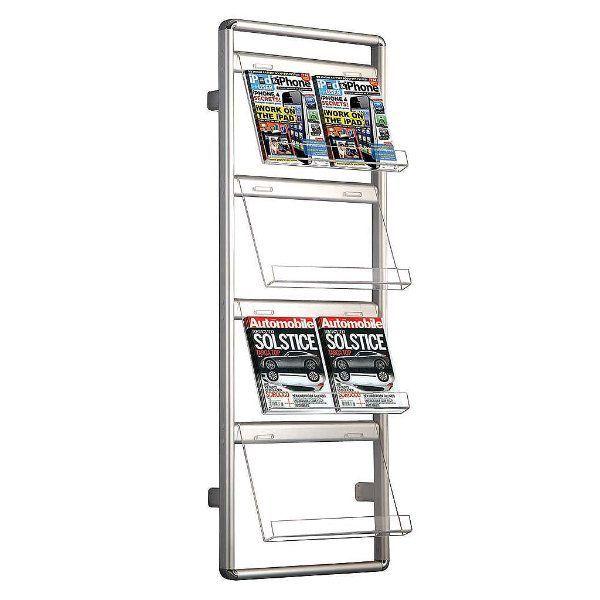 "Brochure Set 4 x 2 * (8 1/2"" x 11"") Capacity Wall Mount Holder"