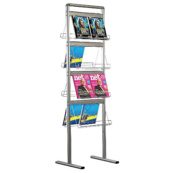 """Brochure Set 8 x 2 * (8 1/2"""" x 11"""") Capacity Standing Double Sided"""