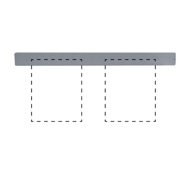 """Clip Board Wall Unit Grey, For 2 x (8.5""""w x 11""""h) Papers Only Bar"""