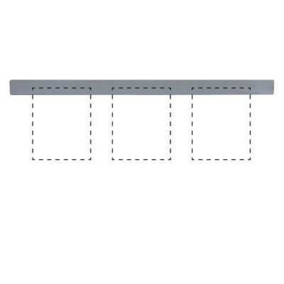 """Clip Board Wall Unit Grey, For 3 x (8.5""""w x 11""""h) Papers Only Bar"""