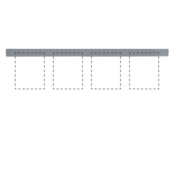"""Clip Board Wall Unit Grey, For 4 x (8.5""""w x 11""""h) Papers Only Bar"""