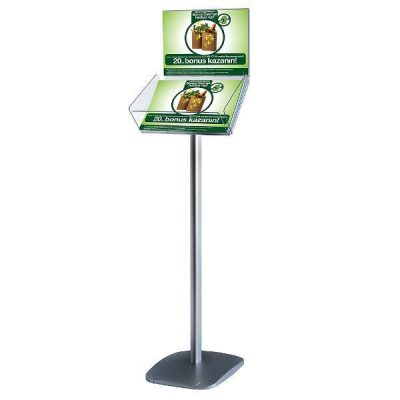 "Decorative Brochure Stand Plus 8-1/2"" x 11"" Paper Area, Landscape"