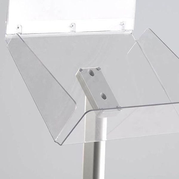 "Decorative Brochure Stand Plus 8-1/2"" x 11"" Paper Area, Landscape"