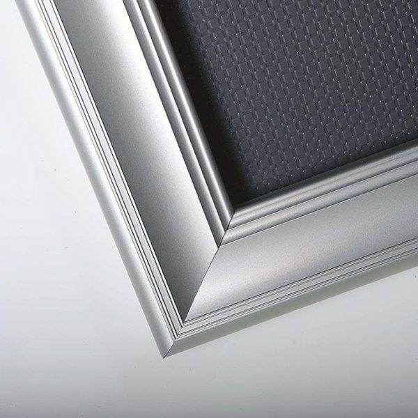 "Fancy Frame 22'' X 28'' Poster Size 1.58"" Silver Color Profile, Mitred Corner"
